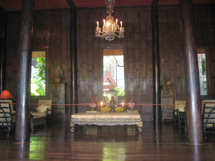a table in one of the rooms