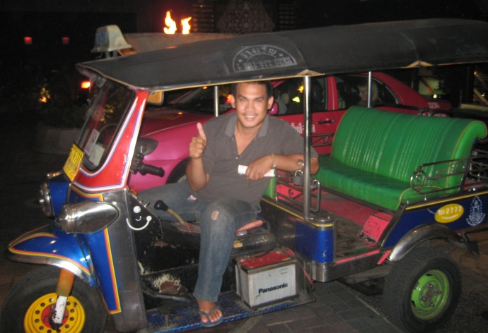 the tuk-tuk I take to Banyan Tree
