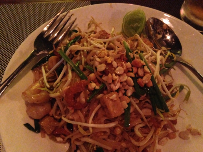 Pad Thai with prawns and dried shrimps