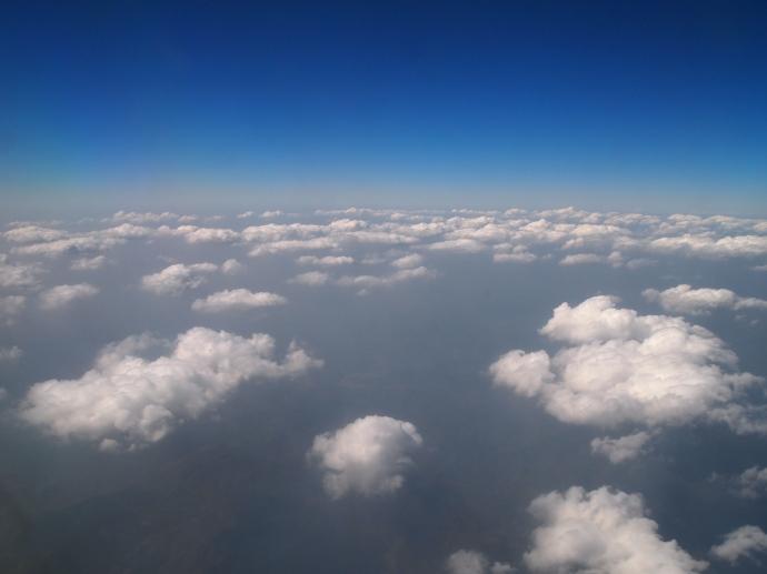 Flying into Myanmar