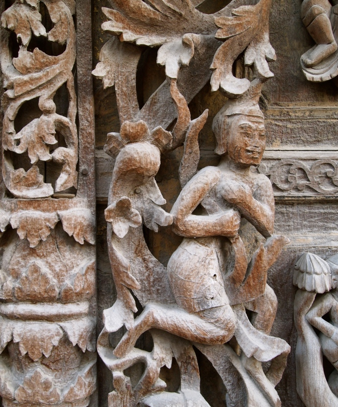 detail at Shwe Nandaw Kyaung