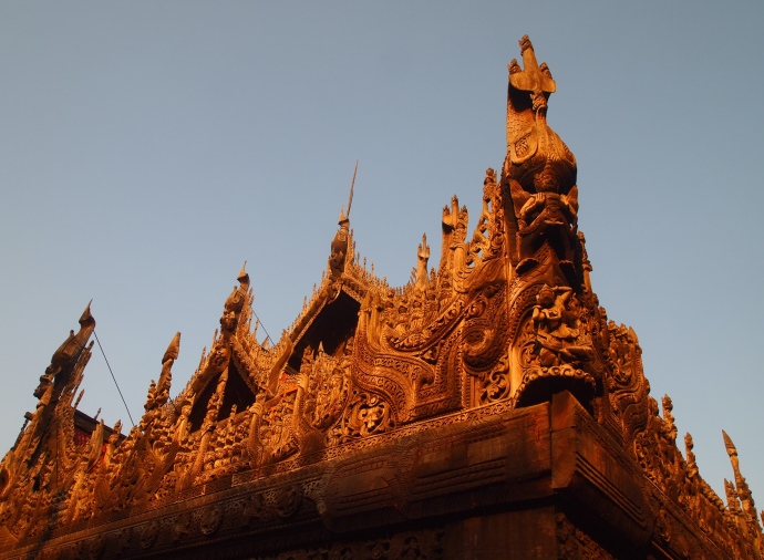 elaborate roof of Shwe Nandaw Kyaung