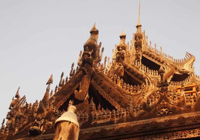 three tiers of roof at Shwe Nandaw Kyaung