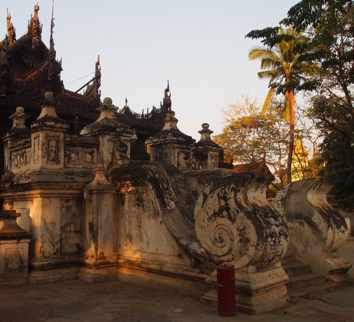 staircase at Shwe Nandaw Kyaung