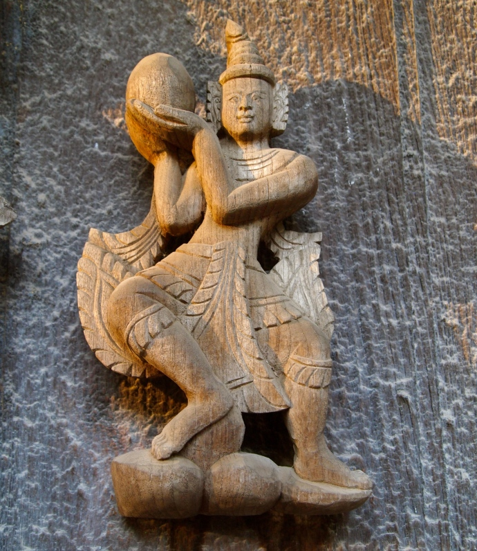 more detailed carvings at Shwe Nandaw Kyaung