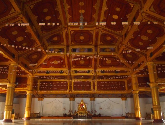 Buddha under the ceiling