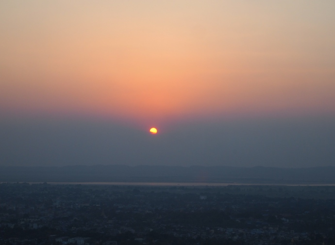 Sunset at Mandalay Hill