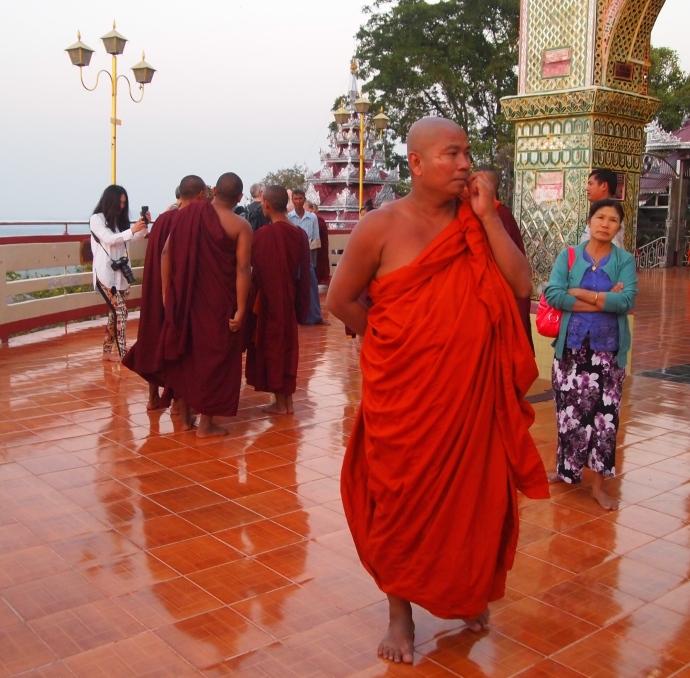 Monk at Su Taung Pyai Pagoda