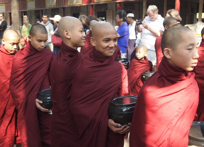 Monks in line for lunch