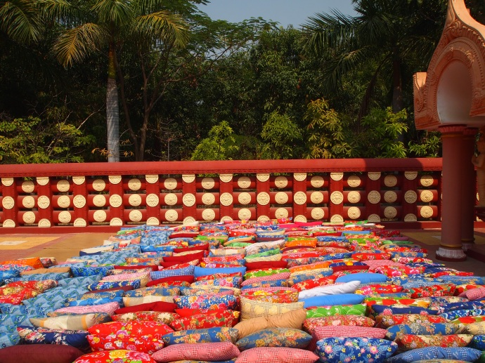 Prayer cushions at Sitagu International Buddhist Academy