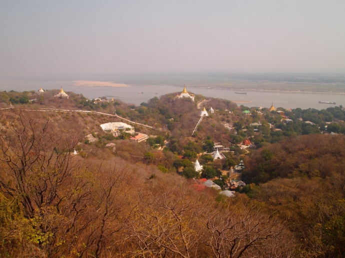 View of Sagaing Hill from U Min Thone Sae Pagoda