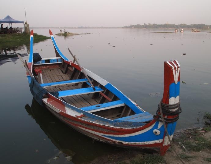 Boat at U Bein Bridge