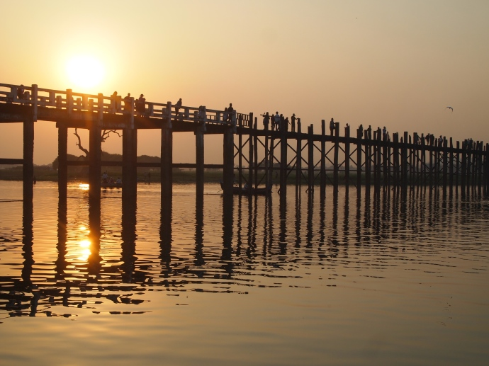 U Bein Bridge as the sun sets
