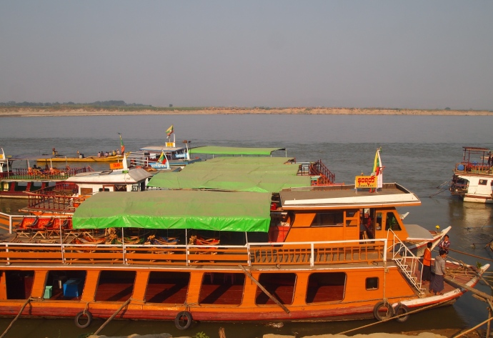 Boats on the Ayeyarwady