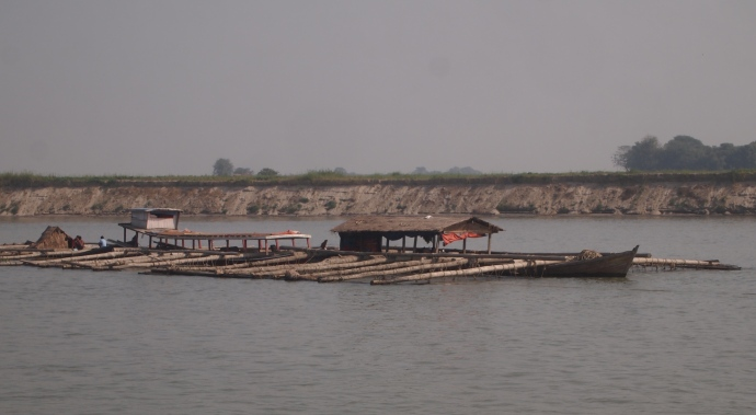 barge on the Ayeyarwady