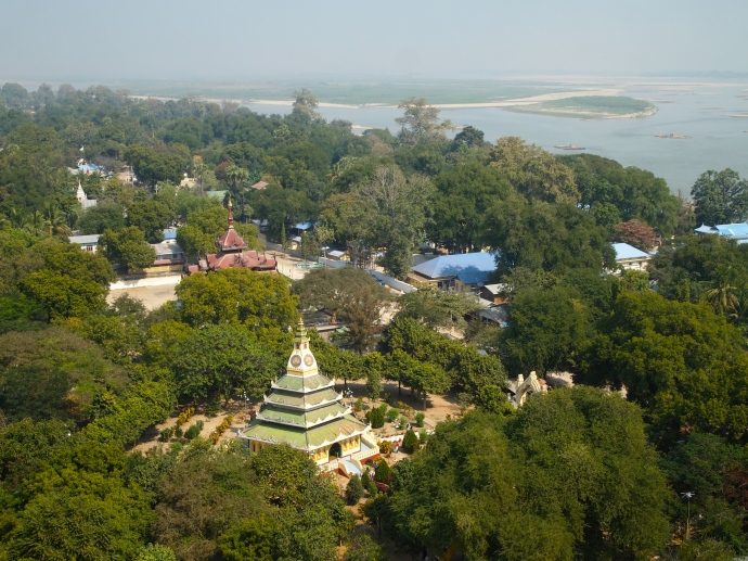 View of Mingun from the top of Mingun Paya