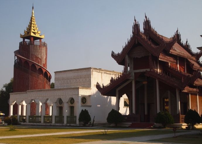 Watchtower and other buildings in the Royal Palace complex