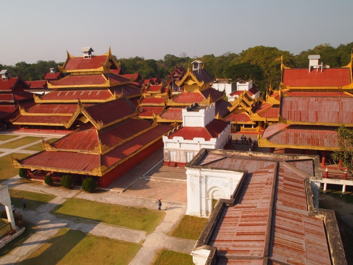 View of Mandalay Royal Palace from the watchtower