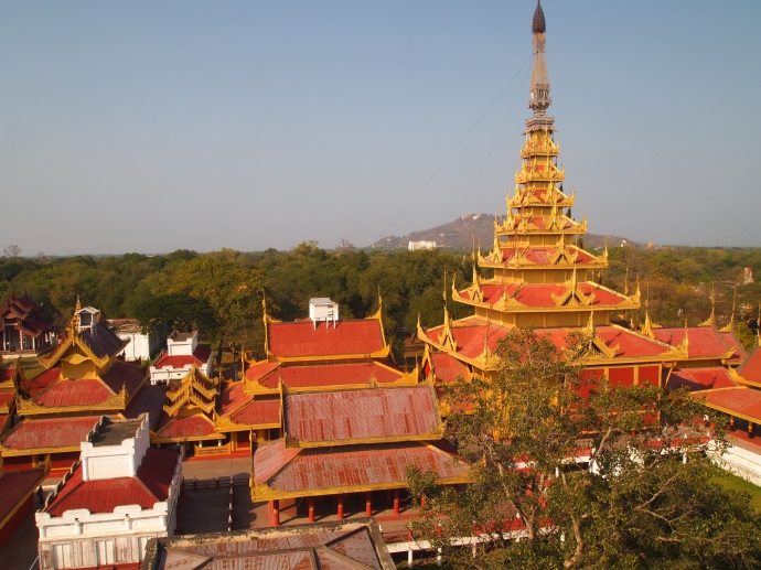The Mandalay Royal Palace from the watchtower