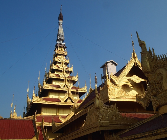 glittering rooftops at The Mandalay Royal Palace