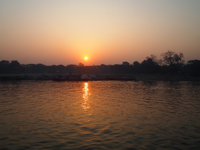 Sunrise on the Ayeyarwady