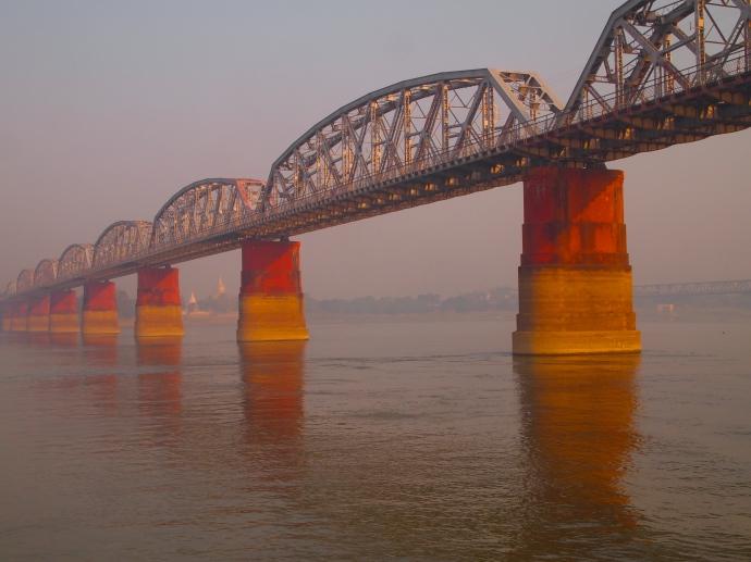passing under another bridge