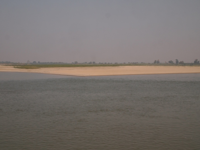 sandy beach along the Ayeyarwady