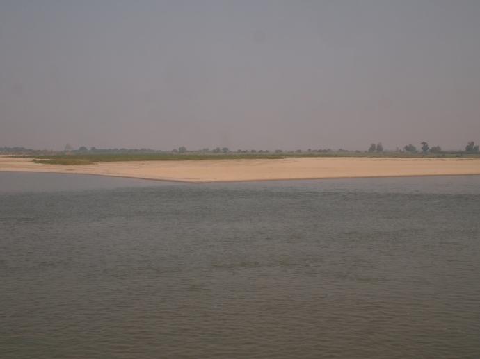 sandy beach along the Ayeyarwady
