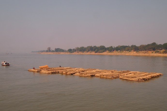 barge in the Ayeyarwady