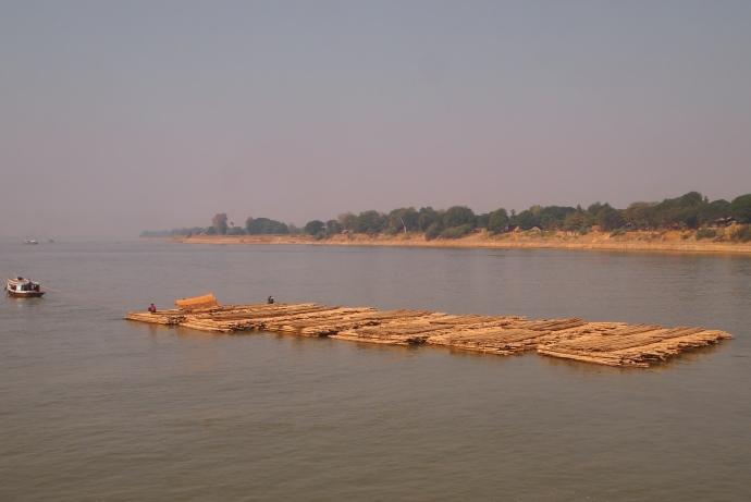 barge in the Ayeyarwady