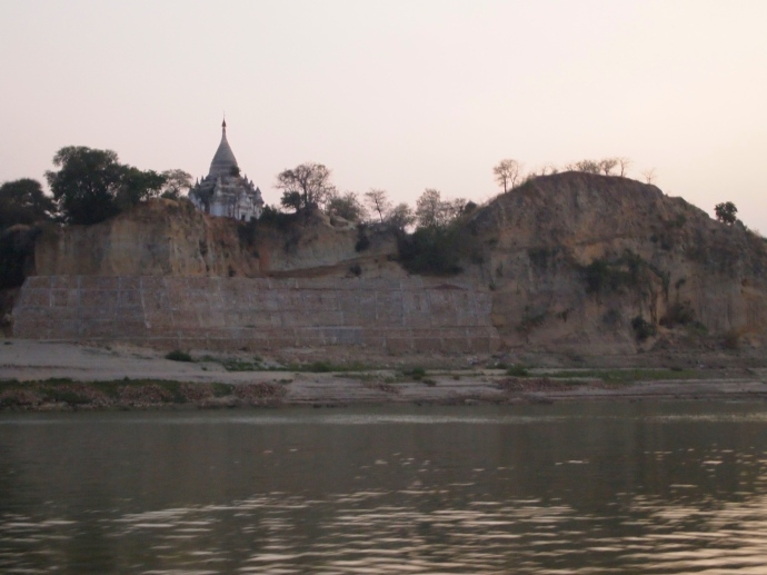 first glimpse of the shore of Bagan