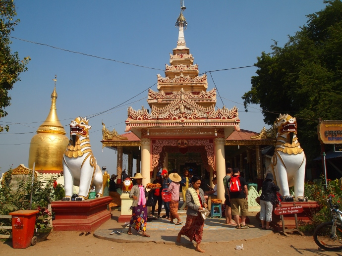 Entrance to Bupaya on the banks of the Ayeyarwady