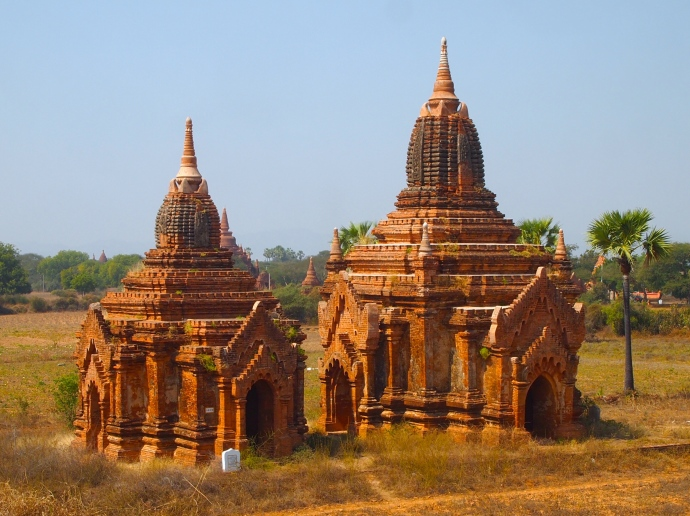 view of some minor temples from the monastery