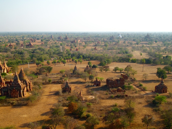 View of the Minnathu Village area from the Bagan Viewing Tower