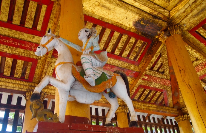 horseman at Shwezigon Paya