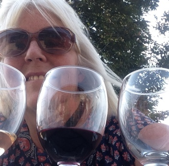 me with a flight of wine