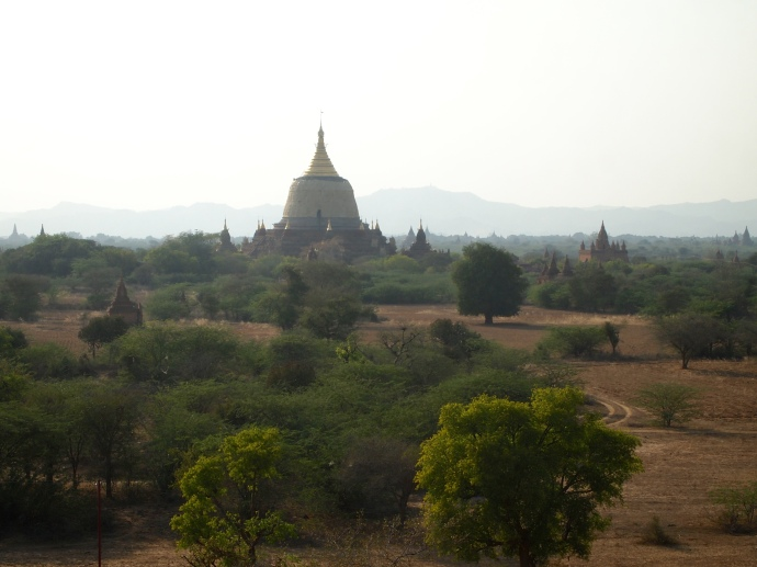 View over Bagan's South Plain