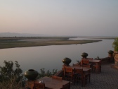 The Ayeyarwady River from the Sunset Garden