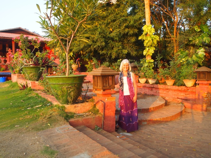 me at the Sunset Garden