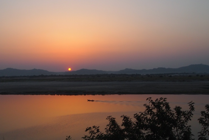 The Ayeyarwady River at sunset