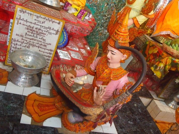 shrines on the summit of Thaung Kalat