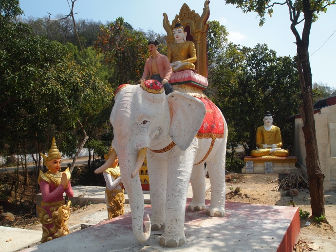 elephant at the shrine