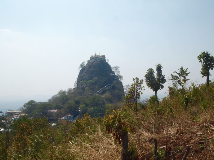 Mount Popa from a distance