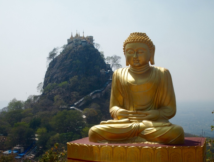 Buddha and Mount Popa