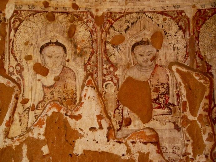 frescos in a random temple