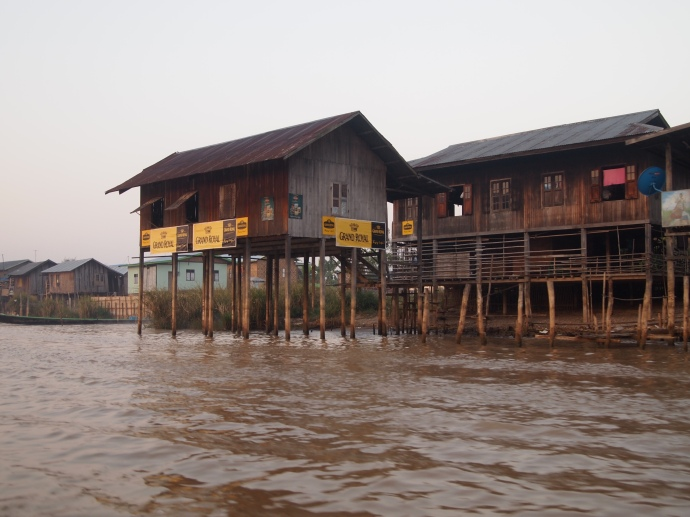 heading out on the canal to Inle Lake at daybreak
