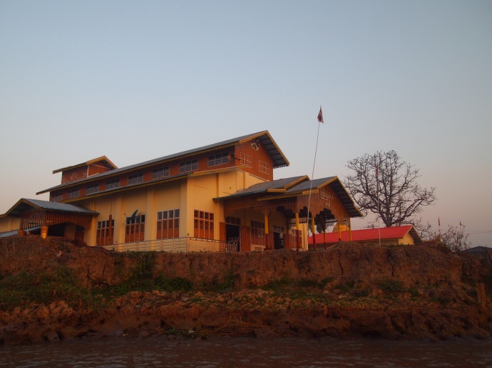 buildings along Inle Lake