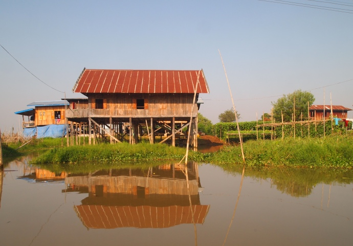 stilt house reflections