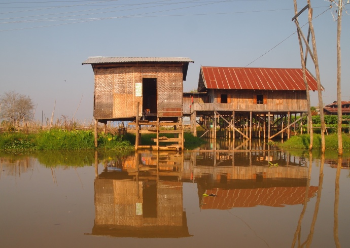 reflections of Inle Lake