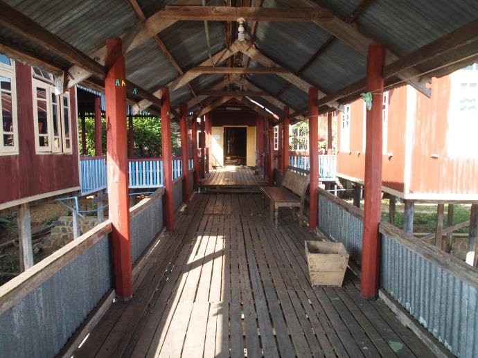 walkway at Nga Phe Chaung Monastery